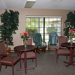 Senior Living Social Gathering Area in Boone, North Carolina