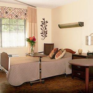 Senior Living Resident Room at Glenbridge Health and Rehabilitation in Boone, North Carolina