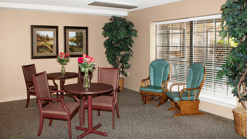Senior Living Social Gathering Area