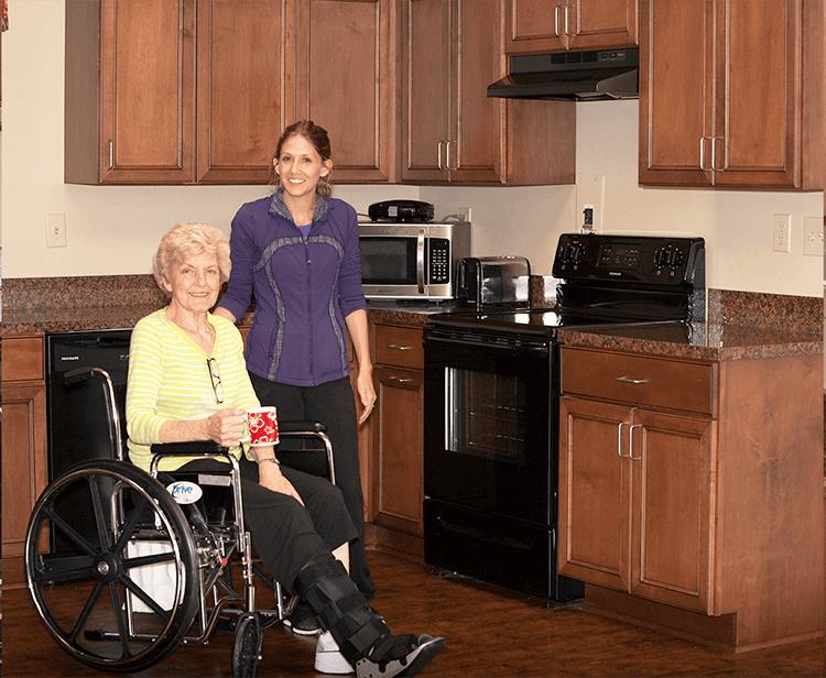 Glenbridge-Health-and-Rehabilitation_0007_Gym-Angle-1_Glenbridge-Health-and-Rehabilitation_Skilled-Nursing-Boone-North-C