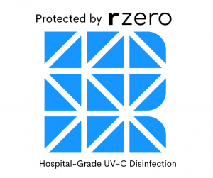 Protected by rzero Hospital Grade Disinfection