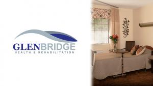 Glenbridge Health & Rehabilitation Logo and interior room photo
